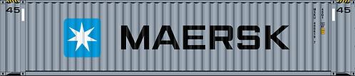 N - MAERSK 45´Dark Grey Sea Container
