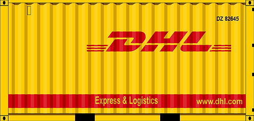 HO - DHL 20' dry container