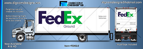 HO- FedEx Ground Freight Box (purple/green logo)