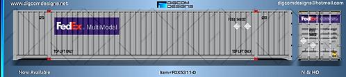 N-FedEx Multimodal 53' Container (orange logo)