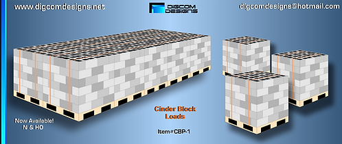 HO-Cinder Block Load on pallets