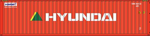 HO - HYUNDAI  40´New Logo Sea Container