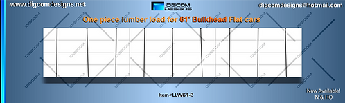 HO-Undecorated Lumber Load wrap for 61' Bulkhead