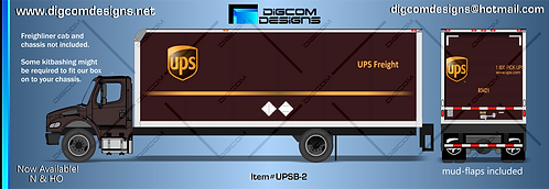 N-UPS Freight Box (gold band)