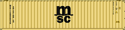 N- MSC 40' dry container