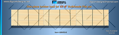 "N-Unwrapped Lumber Load for 53'-6"" Bulkhead"