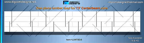 N-Undecorated Lumber Load for 73' Centerbeam