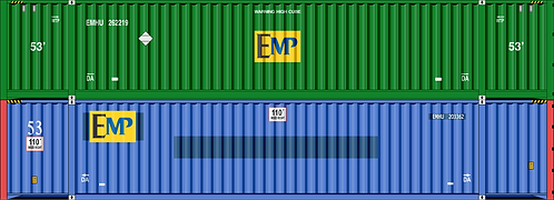 N- EMP mix #1 53' container doublestacks