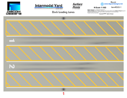 N- Dock Loading Lanes / Surface Print