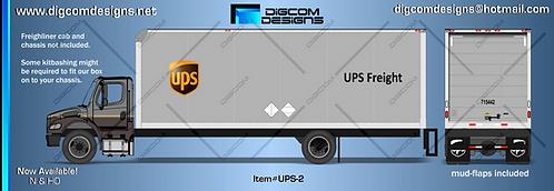 HO-UPS Freight Box (grey)