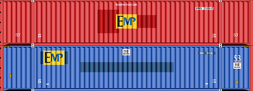 HO- EMP mix #4 53' container doublestacks