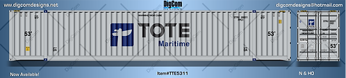 N-TOTE Maritime 53' Dry container