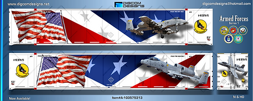 HO-Armed Forces / A-10  357th Fighter Squadron 53' Container