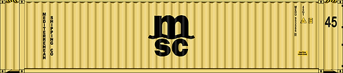 HO- MSC 45' dry container