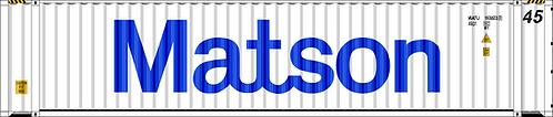 HO - MATSON 45´Large Logo Sea Container