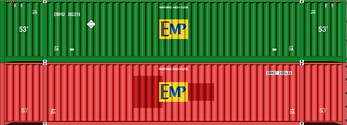 HO- EMP mix #2 53' container doublestacks