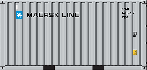 N - MAERSK LINE 20´New Logo Sea Container