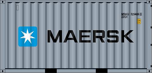 N - MAERSK 20´Dark Grey Sea Container