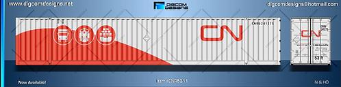N- CN Intermodal (grey/red) 53' dry