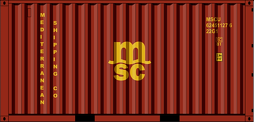 HO - MSC 20´New Color Sea Container
