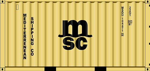 HO- MSC 20' dry container