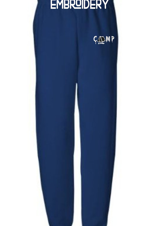 Camp Nowhere Navy Blue Embroidered Pants