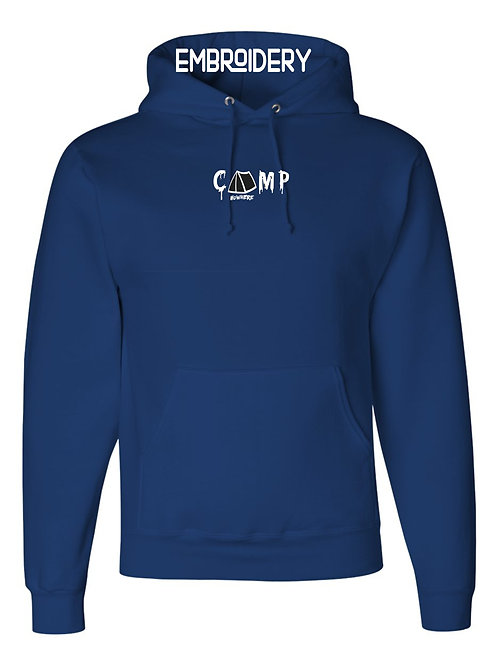 Camp Nowhere Navy Embroidered Hood