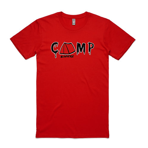 CAMP NOWHERE RED UNISEX