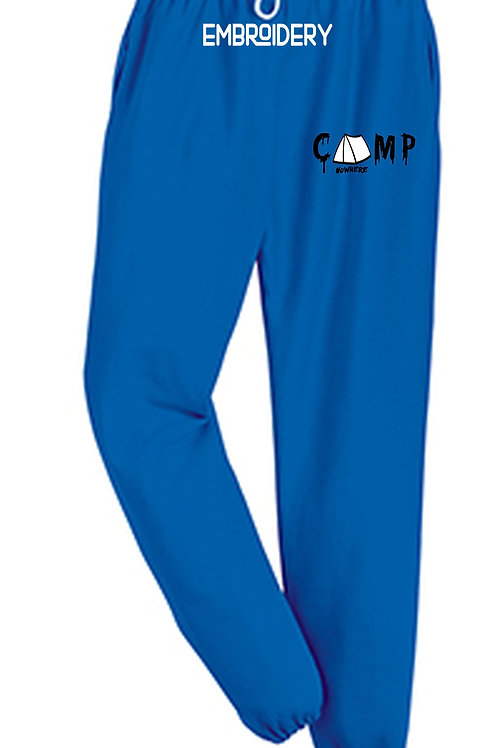 Camp Nowhere Royal Blue Embroidered Pants