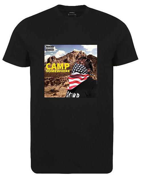 Camp Somewhere Black T-Shirt