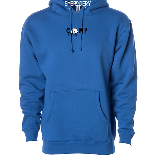 Camp Nowhere Royal Blue Embroidered Hood