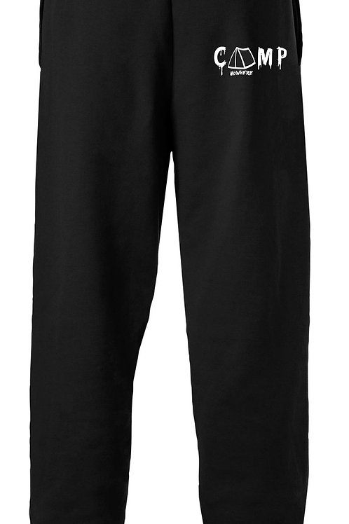 Camp Nowhere Black Embroidered Pants