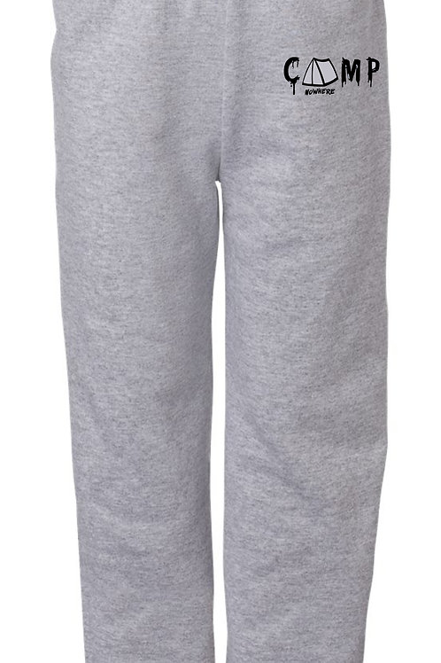 Camp Nowhere Oxford Grey Sweats Embroidered Pants