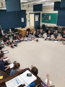 PRHS Students singing their melodies.