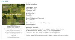 Singing for the Earth