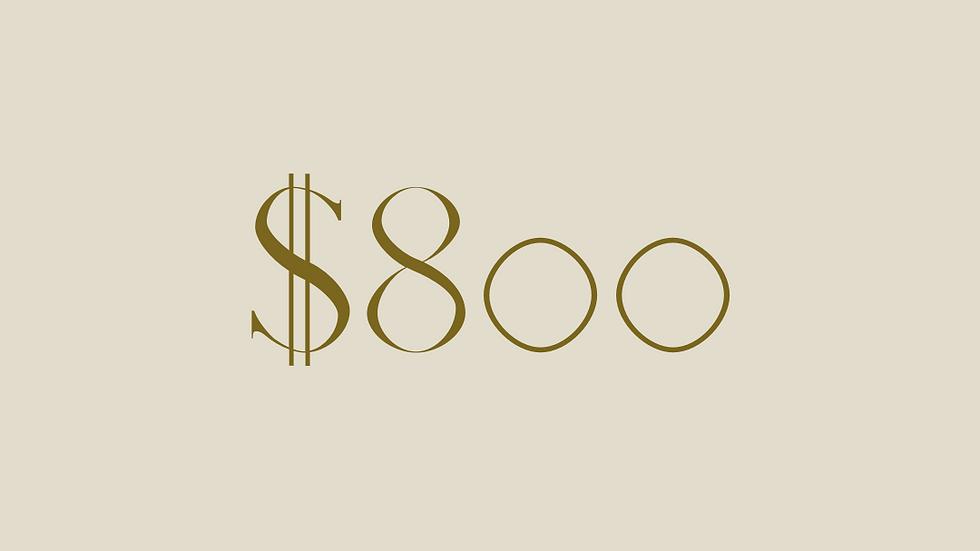 $800 GIFT VOUCHER