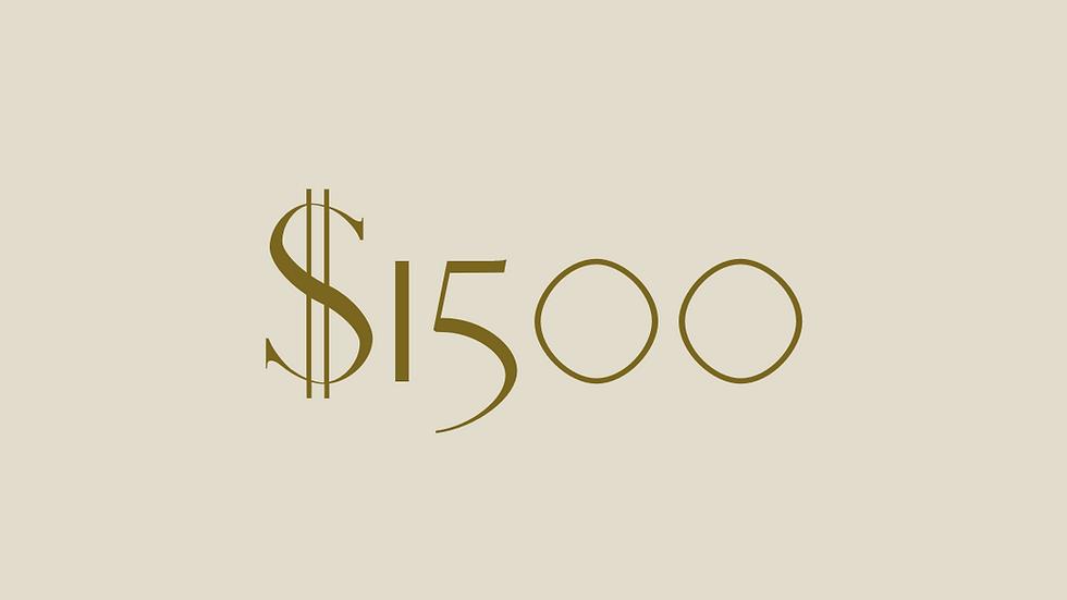 $1500 GIFT VOUCHER
