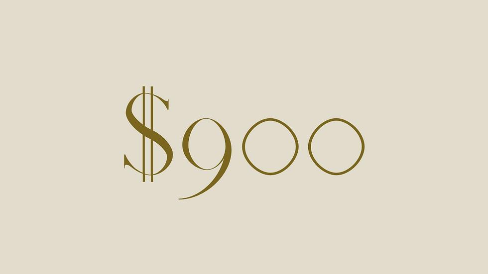 $900 GIFT VOUCHER