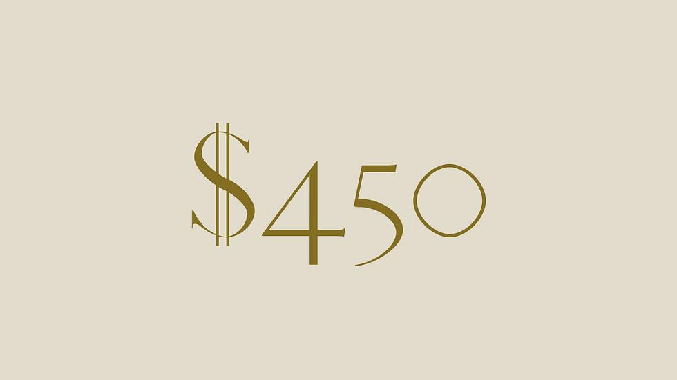 $450 GIFT VOUCHER
