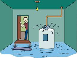 water heater flooding needs to be replaced with a new water heater. water leaks repaired, replaced, affordable plumber near me