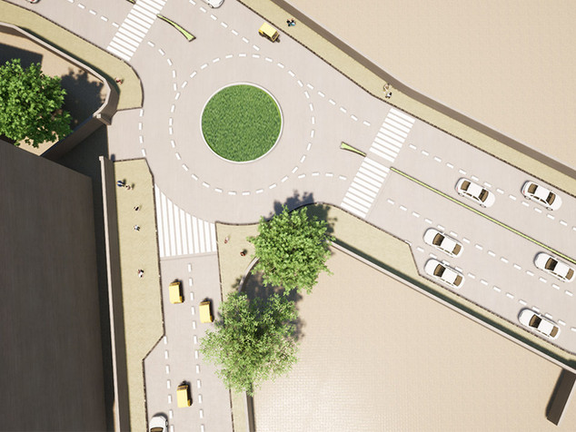 Roundabout at 19th Road