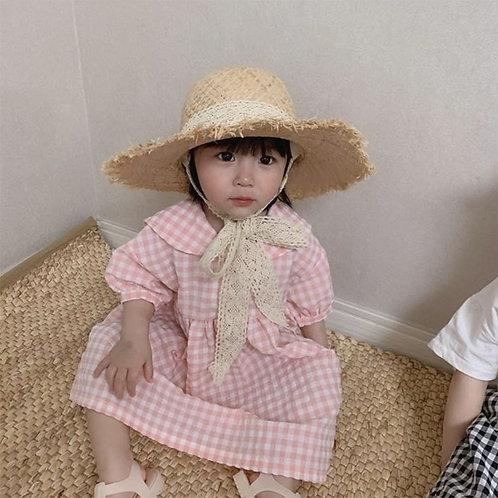Marie Raffia Hat with MOM