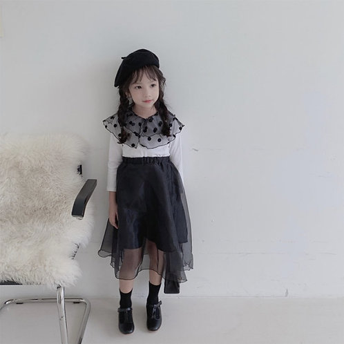 Saint Organza Black Skirt