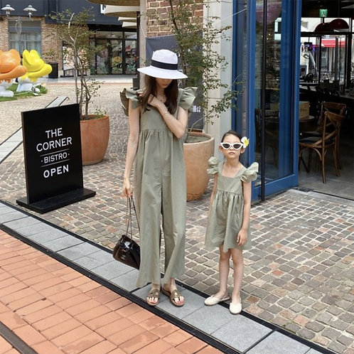 Tinker Bell Jumpsuit with Mom