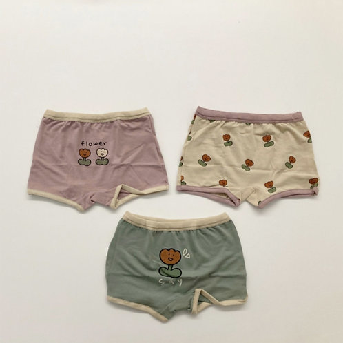 V Flower Panties set