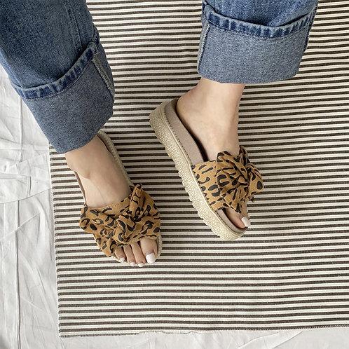 Leopard Ribbon Shoes