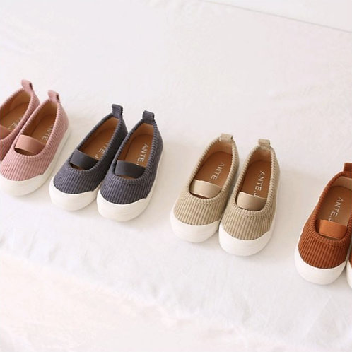 J Corduroy Banding Shoes