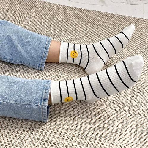 Stripe Smile Mom Socks 3 SET