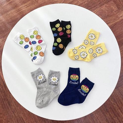 Smile Flower Socks