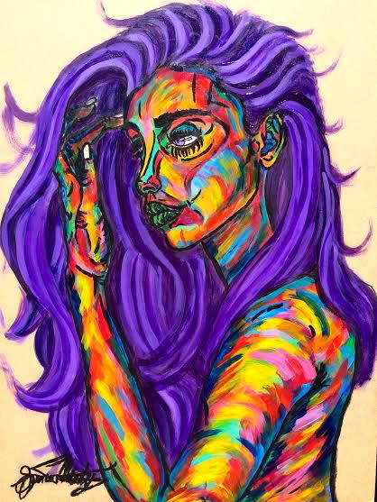 Pensive Purple